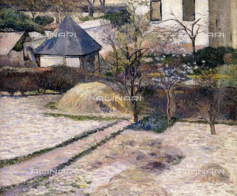 ATK-F-014231-0000 - Giardini all'inizio della primavera a Rouen (Paysage à Rouen), 1884 ca, Paul Gauguin  (1848-1903) - Christie's Images Ltd - ARTOTHEK / Artothek/Archivi Alinari