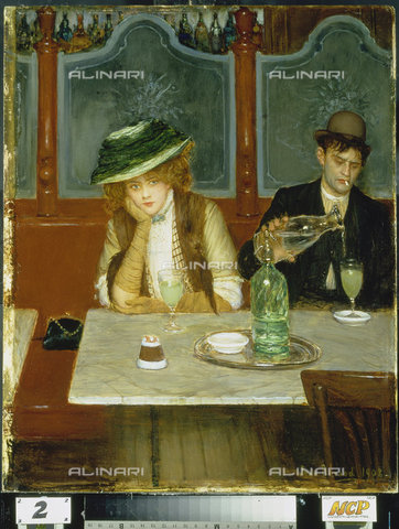 ATK-F-014484-0000 - Absinthe drinkers, oil on canvas, Jean Béraud (1849-1935) - Christie's Images Ltd / Artothek/Alinari Archives