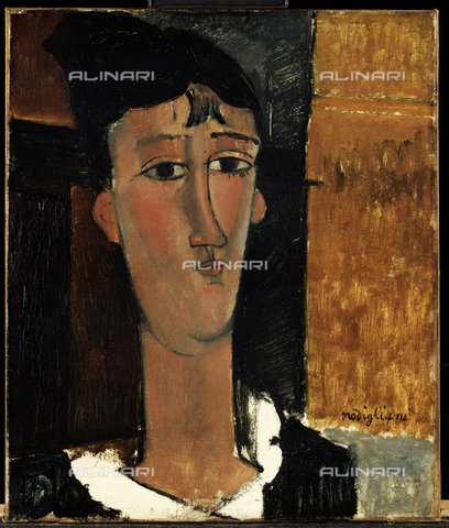 ATK-F-014616-0000 - La Concierge, oil on canvas, Amedeo Modigliani (1884-1920) - Christie's Images Ltd / Artothek/Alinari Archives