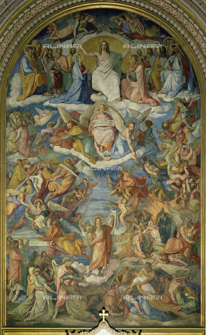 ATK-F-014851-0000 - The Last Judgment, fresco, Peter von Cornelius (1783-1867), choir, Church of St. Ludwig, Munich - von der Mülbe / Artothek/Alinari Archives