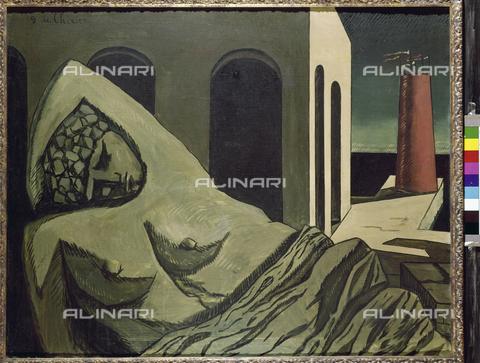 ATK-F-016013-0000 - The statue of silence (La Statue silencieuse / Ariadne), painting, Giorgio De Chirico (1888-1978), Kunstsammlung Nordrhein -Westfalen (NRW), Düsseldorf - Peter Willi / Artothek/Alinari Archives
