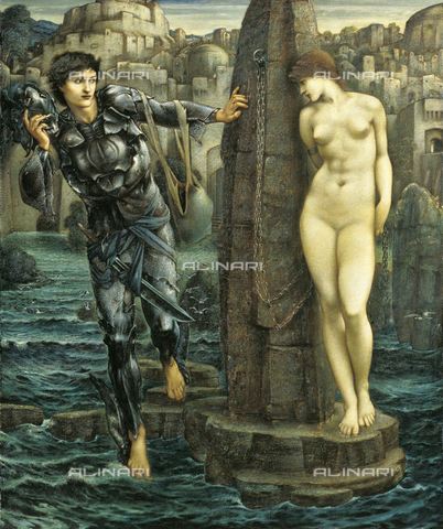ATK-F-016498-0000 - The Rock of Doom, oil on canvas, Sir Edward Burne-Jones (1833-1898), Staatsgalerie, Stuttgart - Artothek/Alinari Archives