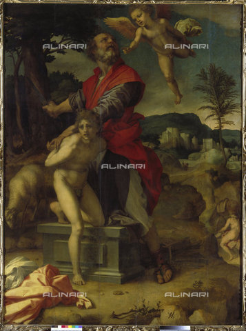 ATK-F-016841-0000 - Sacrifice of Isaac, oil on panel, Andrea del Sarto (1486-1530), Gemäldegalerie, Dresden - Artothek/Alinari Archives