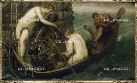 ATK-F-016857-0000 - The rescue of Arsinoe, oil on canvas, Jacopo Robusti known as Tintoretto (1518-1594), Gemäldegalerie, Dresden - Artothek/Alinari Archives