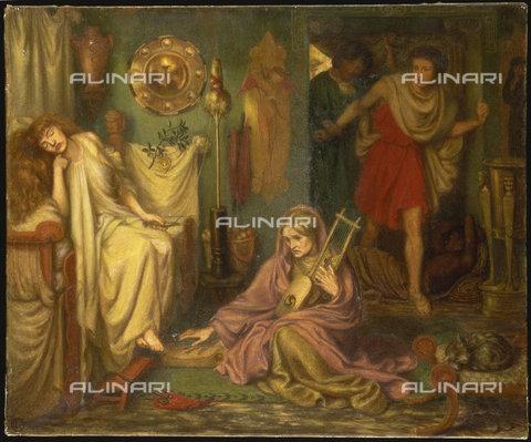 ATK-F-017797-0000 - Il ritorno di Tibullo da Dalia, Dante Gabriel Rossetti, 1828-1882, 42.6 x 35.5 cm - Artothek/Archivi Alinari, Christie's Images Ltd