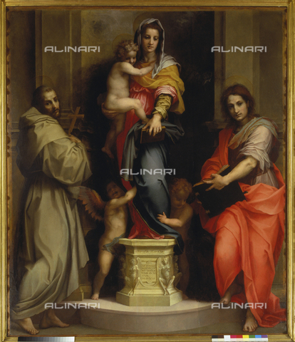 ATK-F-018453-0000 - Madonna delle Arpie, oil on wood, Andrea del Sarto, Andrea d'Agnolo called (Florence 1486-1530), Uffizi Gallery, Florence - Artothek/Alinari Archives