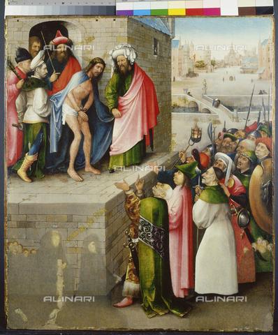 ATK-F-019894-0000 - Ecce Homo, olio su tavola, Hieronymus Bosch (1453-1516), Stà¤del Museum, Francoforte sul Meno - Artothek/Archivi Alinari, Stà¤del Museum