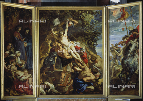 ATK-F-019931-0000 - Raising of the cross (central triptych blade), oil on panel, Peter Paul Rubens (1577-1640), Cathedral of Our Lady, Antwerp - Peter Willi / Artothek/Alinari Archives
