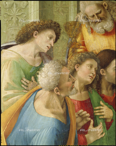 ATK-F-021591-0000 - The Communion of the Apostles, detail, oil on panel, Luca Signorelli (circa 1445-1523), Diocesan Museum, Cortona - Paolo Tosi / Artothek/Alinari Archives