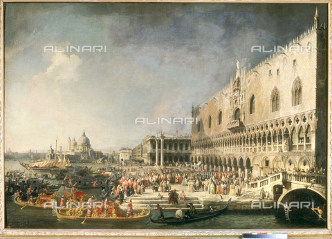 ATK-F-022543-0000 - The reception of the French ambassador in Venice, oil on canvas, Giovanni Antonio Canal known as Canaletto (1697-1768), State Hermitage Museum, St. Petersburg - Artothek/Alinari Archives