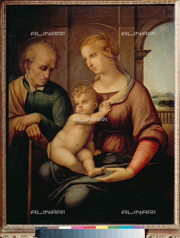 ATK-F-022738-0000 - Holy Family, tempera and oil on canvas, Leonardo da Vinci (1452-1519), Hermitage Museum, St. Petersburg - Artothek/Alinari Archives