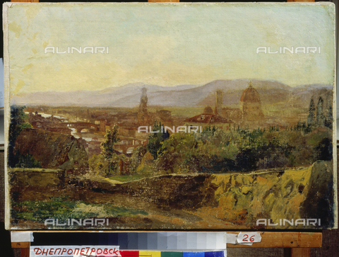 ATK-F-024472-0000 - View of Florence, oil on canvas, Nikolai Gay (1831-1894), Kunstmuseum, Dnipro (Dnjepopetrovsk), Ukraine - Artothek/Alinari Archives