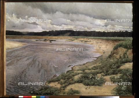 ATK-F-025058-0000 - Nordwind (Siwerko), oil on canvas, Ilja Ostrouchov (1858-1929), Tretiakov State Gallery, Moscow - Artothek/Alinari Archives