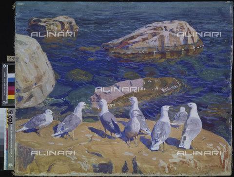 ATK-F-025350-0000 - Seagulls, painted, Arkadi Rylow (1870-1939), Russian Museum of Art, Kiev - Artothek/Alinari Archives