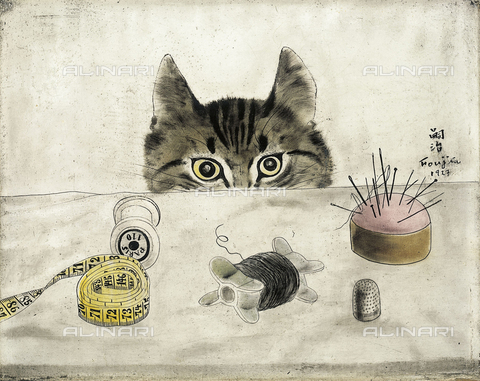 ATK-F-031055-0000 - The cat of the tailor, oil on canvas, Tsugouharu Foujita (1886-1968) - Christie's Images Ltd / Artothek/Alinari Archives