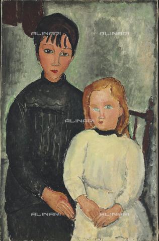 ATK-F-036254-0000 - Le due ragazze, olio su tela, Amedeo Modigliani (1884-1920) - Christie's Images Ltd / Artothek/Archivi Alinari
