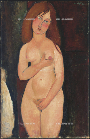 ATK-F-036312-0000 - Venus (female nude, Venus Medici), oil on canvas, Amedeo Modigliani (1884-1920) - Christie's Images Ltd / Artothek/Alinari Archives