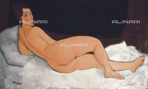 ATK-F-036313-0000 - Female nude lying, oil on canvas, Amedeo Modigliani (1884-1920) - Christie's Images Ltd / Artothek/Alinari Archives
