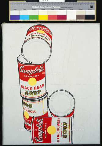 ATK-F-036433-0000 - Five cans of Campbell soup, acrylic and graphite on canvas, Andy Warhol (1928-1987) - Christie's Images Ltd/The Andy Warhol Foundation for the Visual Arts / Artothek/Alinari Archives
