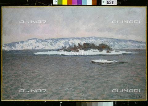 ATK-F-036597-0000 - The fjord, Christiania (Oslo), oil on canvas, Claude Monet (1840-1926), Private collection - Artothek/Alinari Archives, Hans Hinz