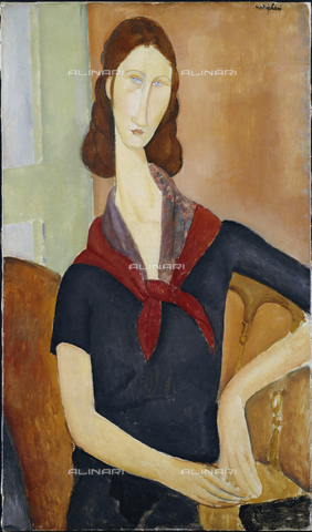 ATK-F-036627-0000 - Jeanne Hebuterne, oil on canvas, Amedeo Modigliani (1884-1920) - Christie's Images Ltd / Artothek/Alinari Archives