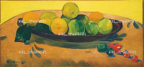 ATK-F-036636-0000 - Natura morta con frutta e peperoncino, 1892, Paul Gauguin  (1848-1903) - Christie's Images Ltd - ARTOTHEK / Artothek/Archivi Alinari