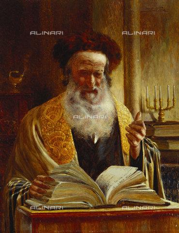 ATK-F-036763-0000 - Rabbi during a sermon, oil on canvas, Joseph Jost (1888-?) - Christie's Images Ltd / Artothek/Alinari Archives