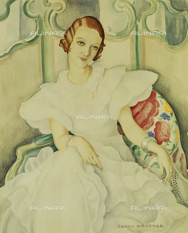 ATK-F-036935-0000 - Female Portrait, Watercolor, Gerda Wegener (1885-1940) - Christie's Images Ltd / Artothek/Alinari Archives