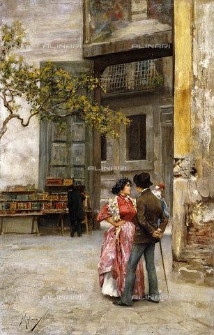 ATK-F-037566-0000 - Spaccanapoli, Naples.,19th century,20th century,Migliaro,Vincenzo,1858-1938 - Christie's Images / Artothek/Alinari Archives