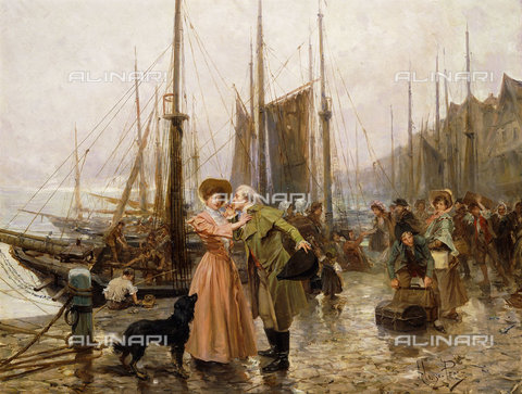ATK-F-037569-0000 - The Farewell.,Oil/Wood,19th century,20th century,Perez y Villagrosa,Mariano Alonso,1857-1930 - Christie's Images / Artothek/Alinari Archives