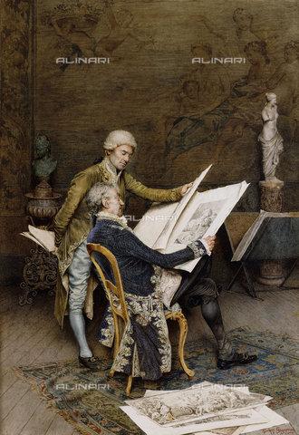 ATK-F-037571-0000 - The Connoisseurs.,Pencil/Watercolour,Signorini,Giuseppe,1857-1932,19th century,20th century - Christie's Images / Artothek/Alinari Archives