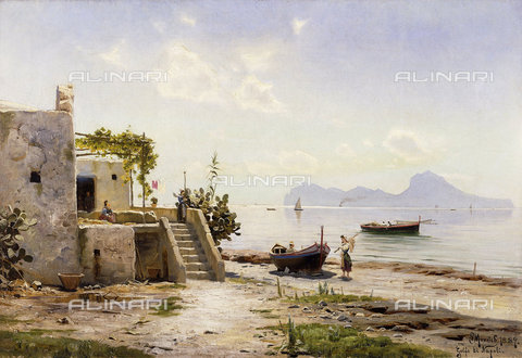 ATK-F-037574-0000 - From Sorrento, Towards Capri. 1889,19th century,20th century,Oil/Canvas,1859-1941,Moensted,Peder - Christie's Images / Artothek/Alinari Archives