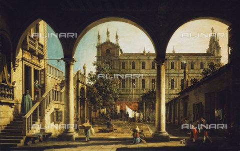 ATK-F-037585-0000 - A Capriccio of the Scuola di San Marco, Venice, from the Palazzo Grifalconi-Loredan.,Canaletto (Giovanni Antonio Canal),1697-1768,Oil/Canvas,18th century - Christie's Images / Artothek/Alinari Archives