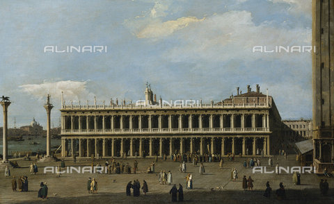 ATK-F-037587-0000 - The Library and the Piazzetta, Venice, from the Doge's Palace.,Canaletto (Giovanni Antonio Canal),1697-1768,Oil/Canvas,18th century - Christie's Images / Artothek/Alinari Archives