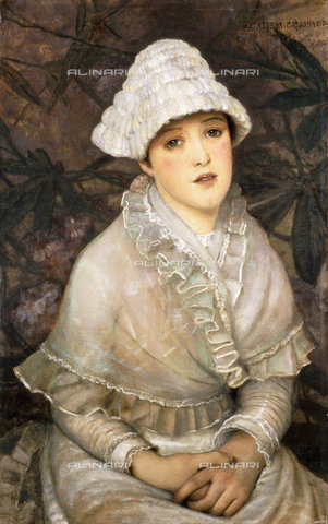 ATK-F-037592-0000 - My Wee White Rose. 1882,Grimshaw,John Atkinson,1836-1893,Oil/Canvas,19th century,Portrait - Christie's Images / Artothek/Alinari Archives