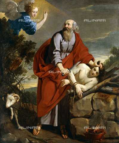 ATK-F-037595-0000 - The Sacrifice of Isaac.,Champaigne,Philippe de,1602-1674,Oil/Canvas,17th century - Christie's Images / Artothek/Alinari Archives