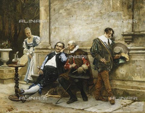 ATK-F-037596-0000 - The Gossips. 1867,Oil/Wood,19th century,Zamacois y Zabala,Eduardo,1842-1871 - Christie's Images / Artothek/Alinari Archives