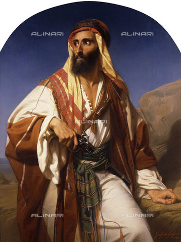ATK-F-037607-0000 - A Bedouin Chieftain. 1846,Oil/Canvas,1823-1901,Guffens,Godfried,Portrait,19th century - Christie's Images / Artothek/Alinari Archives