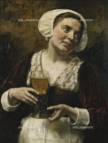 ATK-F-037805-0000 - The Serving Maid.,Gebhardt,Eduard (Karl Franz) von,1838-1925,Oil/Wood,19th century,Portrait,Genre - Christie's Images / Artothek/Alinari Archives