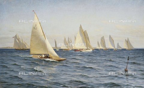 ATK-F-037807-0000 - The Race. 1921,Johansen,Axel,1872-1938,Oil/Canvas,20th century - Christie's Images / Artothek/Alinari Archives