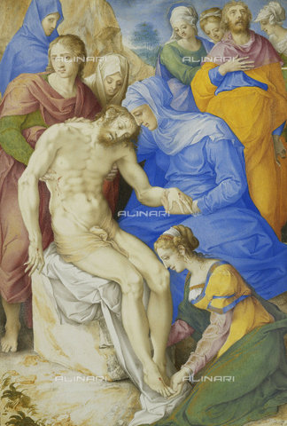 ATK-F-037809-0000 - The Lamentation.,Clovio,Giulio,1498-1578,Opaque colour and gilding on parchment,16th century,religion - Christie's Images / Artothek/Alinari Archives