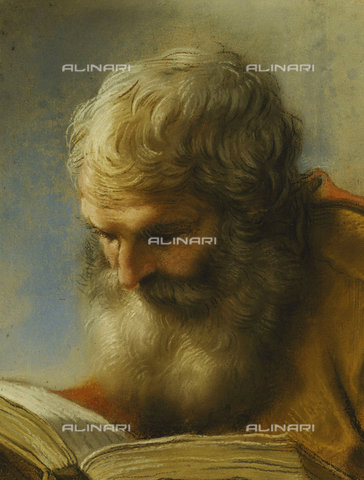 ATK-F-037811-0000 - A Bearded Apostle Reading. 1712,Luti,Benedetto,1666-1724,Pastel,18th century - Christie's Images / Artothek/Alinari Archives