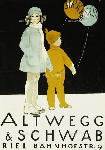 ATK-F-037815-0000 - Altwegg and Schwab. 1921,Colour lithograph,20th century,Poster,Cardinaux,Emil,1877-1936 - Christie's Images / Artothek/Alinari Archives