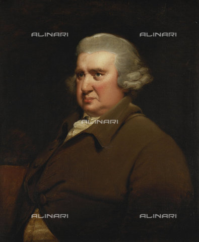 ATK-F-037827-0000 - Portrait of Erasmus Darwin, half length, in a Buff Coat and White Shirt. (The sitter was distinguished in many fields, as a physician, chemist, zoologist, mechanic, political theorist, poet and botanist.),Oil/Canvas,18th century,Portrait,Wright of Derby,Joseph,1734-1797 - Christie's Images / Artothek/Alinari Archives