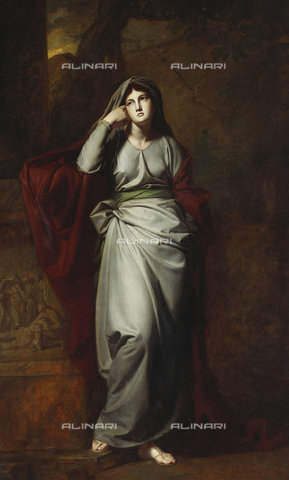 ATK-F-037829-0000 - Melancholy (This painting is said to represent Mrs. Yates, the famous actress.).,Romney,George,1734-1802,Oil/Canvas,18th century,Portrait - Christie's Images / Artothek/Alinari Archives