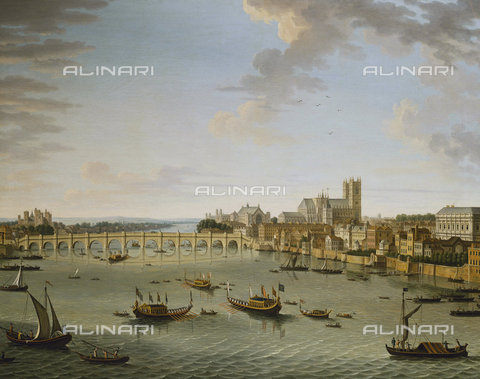 ATK-F-037834-0000 - The Thames from the Terrace of Somerset House Looking Towards Westminster. (This picture can be dated to 1750 when Westminster bridge was completed and the artist left London.),Joli,Antonio,1700-1777,Oil/Canvas,18th century - Christie's Images / Artothek/Alinari Archives