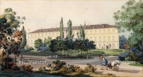 ATK-F-037838-0000 - The North View of the Residence of the Grand Duke at Weimar.,Watercolour over pencil,19th century,Hummel,Carl Maria Nicolaus,1821-1907 - Christie's Images / Artothek/Alinari Archives
