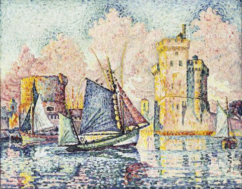 ATK-F-037850-0000 - Tuna Boat Entering the Port of La Rochelle. 1927,Signac,Paul,1863-1935,Oil/Canvas,20th century - Christie's Images / Artothek/Alinari Archives