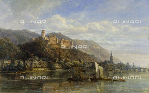 ATK-F-037851-0000 - Heidelberg. 1866,19th century,Ouvrie,Pierre Justin,1806-1879,Oil/Canvas, - Christie's Images / Artothek/Alinari Archives
