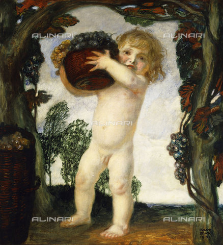 ATK-F-037855-0000 - Boy with Grapes. 1903,Stuck,Franz von,1863-1928,Oil/Wood,20th century - Christie's Images / Artothek/Alinari Archives
